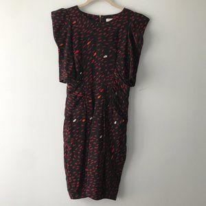 WHISTLES printed silk dress Size 4
